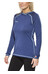 Bergans Cecilie Wool Shirt Lady w/Hood Ink Blue Melange/Ice